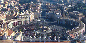 A panoramic photography of Rome from the top of San Pietro
