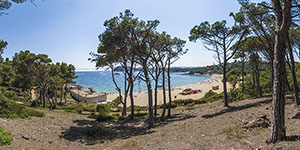Castle beach at Palamós