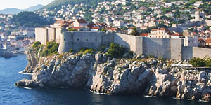Panorama of Dubrovnik taken on Costa Favolosa cruise