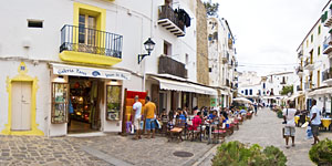 Upper town of Ibiza