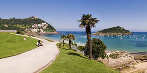 La Concha beach at San Sebastian