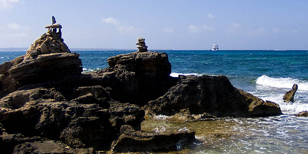Rock piles at Formentera