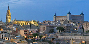 A panoramic view of the old Toledo city
