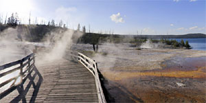 West Thumb Geyser basin en Yellowstone National Park