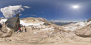 Summer at Zugspitze glacier 2600